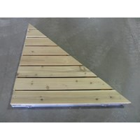 RIGHT TRIANGLE CORNER ALUM-CEDAR