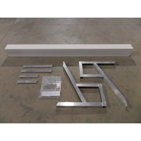 8' FREE STANDING BENCH KIT WITH WHITE PANELS