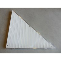 RIGHT TRIANGLE CORNER ALUM-WHITE