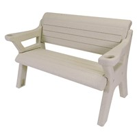 5' PEBBLE BEACH WAVE DOCK BENCH