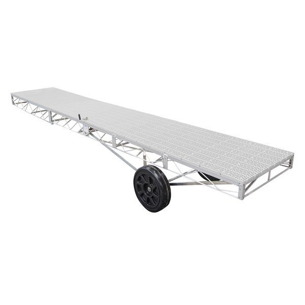 4'X24' Wheel End Aluminum-Thruflow Gray