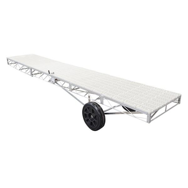 4'X24' Wheel End Galvanized-Thruflow White
