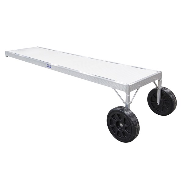 12' Classic Adjustable Aluminum-White With 2-1/2' Legs