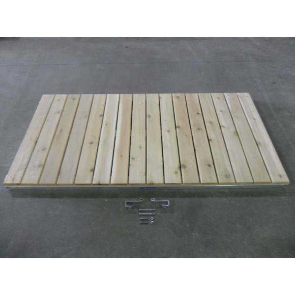 8' Classic Ramp Aluminum-Cedar With Hinges