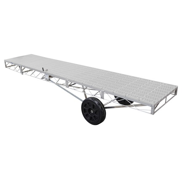 4'X20' Wheel End Aluminum-Thruflow Gray