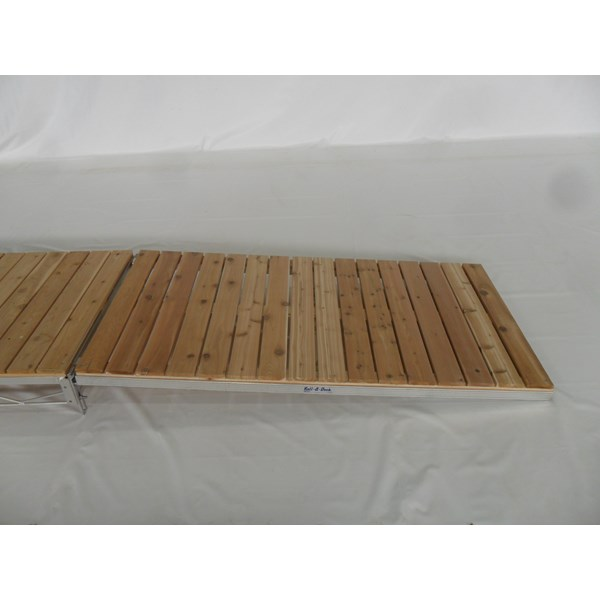 4'X8' Ramp Aluminum-Cedar With Hinge