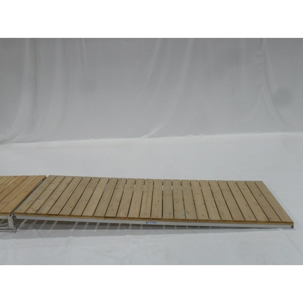 4'X12' Ramp Aluminum-Cedar With Hinge