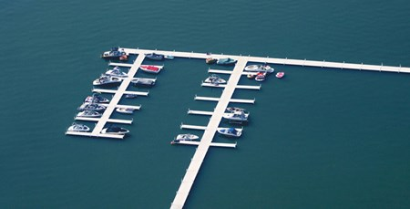 Roll-A-Dock aerial view