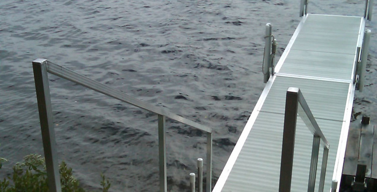 Classic Dock with Hand Railing