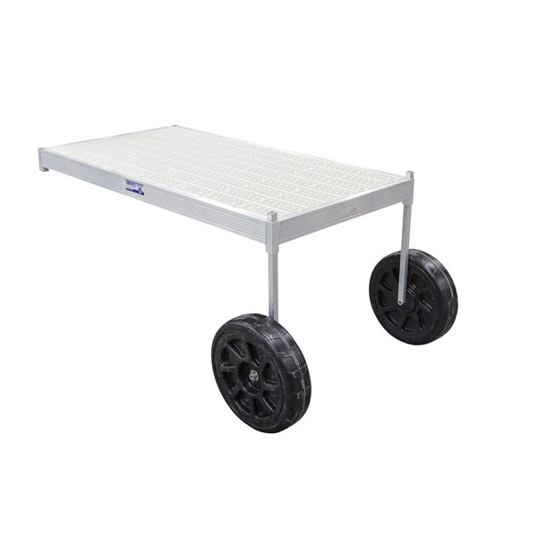 8' CLASSIC WHEEL THRUFLOW WHITE WITH 3' UPRIGHT
