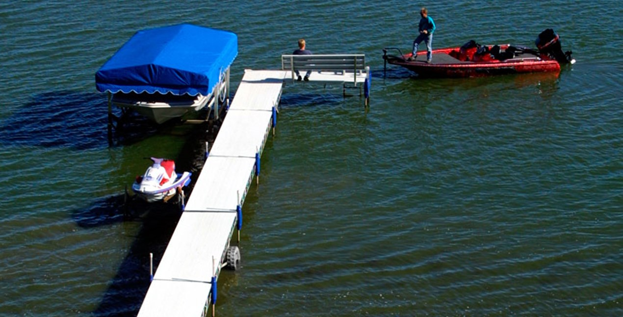 Roll-A-Dock fishing
