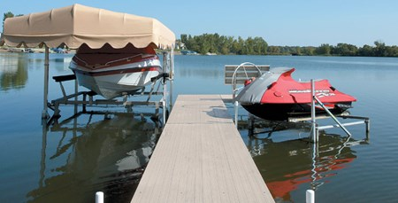 Roll-A-Dock with Cantilever Lifts