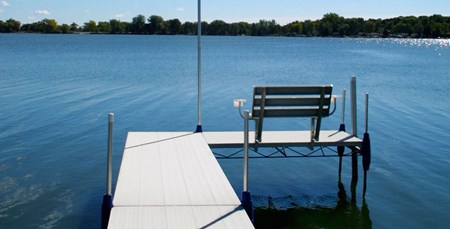 Roll-A-Dock with chair