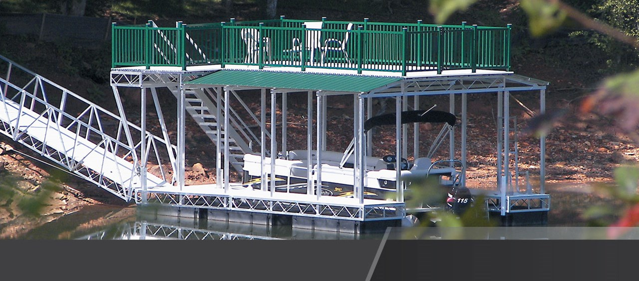 Truss Floating Dock with Upper Deck