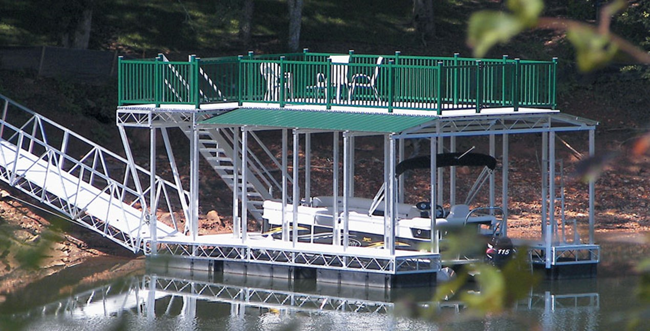 Floating Truss Dock with Deck