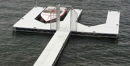 Floating Truss Dock with Gate