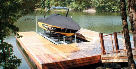 Boat Port With Custom Dock