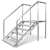 3' ADJUSTABLE STEPS-WHITE (3' TO 4-1/2')