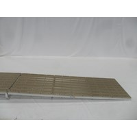 4'X12' Ramp Aluminum-Thruflow Beige With Hinge