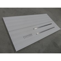 2'X4' Aluminum Decking Panel With Trim & Rivets-White