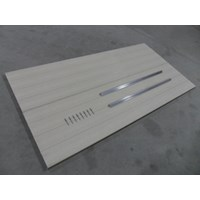 2'X4' Aluminum Decking Panel With Trim & Rivets-Beige