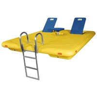 8'X10' YELLOW OTTER SWIM RAFT COMPLETE-BLUE SEATS